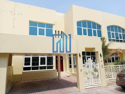 5 Bedroom Villa Compound for Rent in Airport Street, Abu Dhabi - Villa in Compound 5 Masters with  Pool and Gym  I  Private Garden