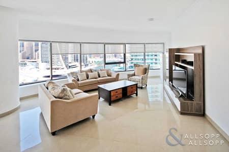 3 Bedroom Apartment for Rent in Dubai Marina, Dubai - 3 Bedrooms | Furnished | Large Terrace