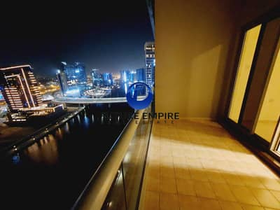 2 Bedroom Flat for Rent in Business Bay, Dubai - Full Canal View | Maids Room | One Month Free