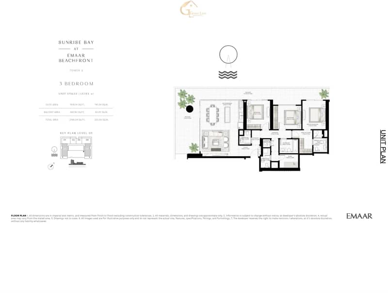 12 Last 3BR Unit in Sunrise Bay Directly from EMAAR