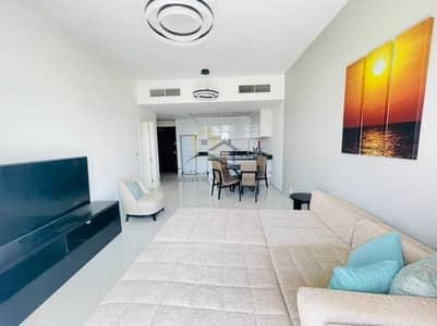 فلیٹ 1 غرفة نوم للايجار في قرية جميرا الدائرية، دبي - Fully Furnished 1BHK | Massive Balcony | Marina View