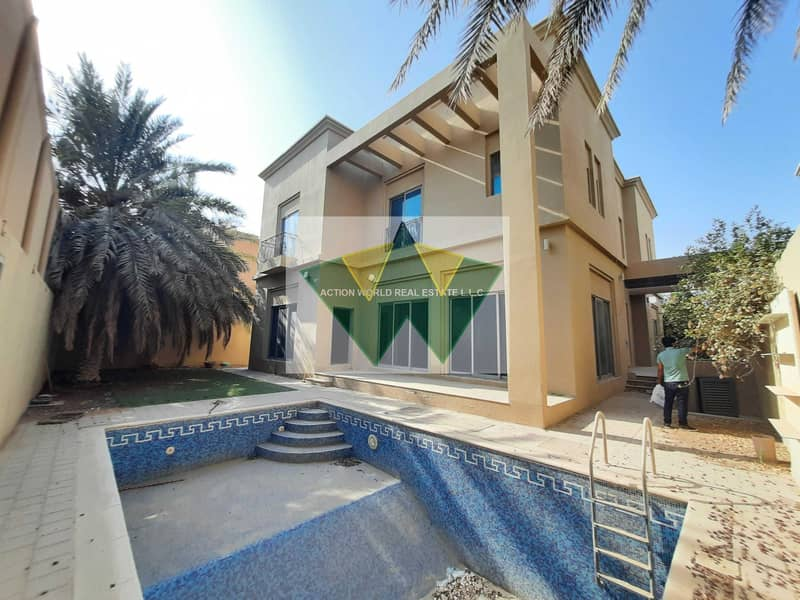 Private Entrance with pvt pool and driver room and Yard