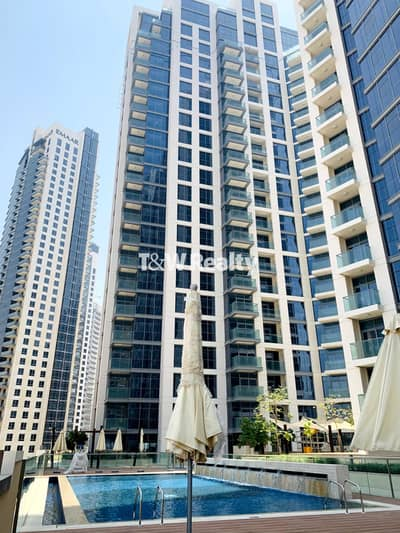 1 Bedroom Flat for Rent in Downtown Dubai, Dubai - Bright and new   Burj & Pool view   Bellevue Towers