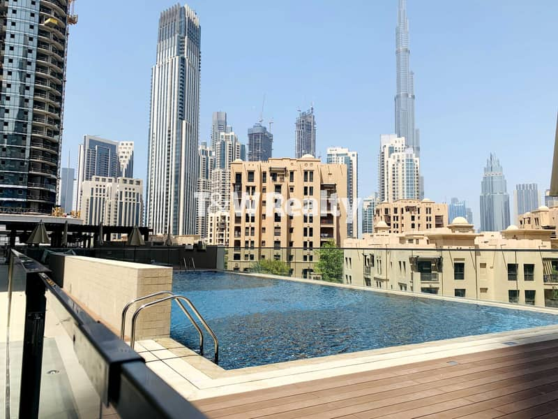 25 Bright and new   Burj & Pool view   Bellevue Towers