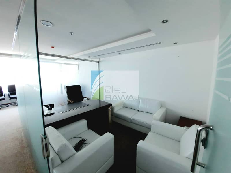 FULLY FURNISHED OFFICE WITH PARTITION FOR RENT AT ONTARIO TOWER