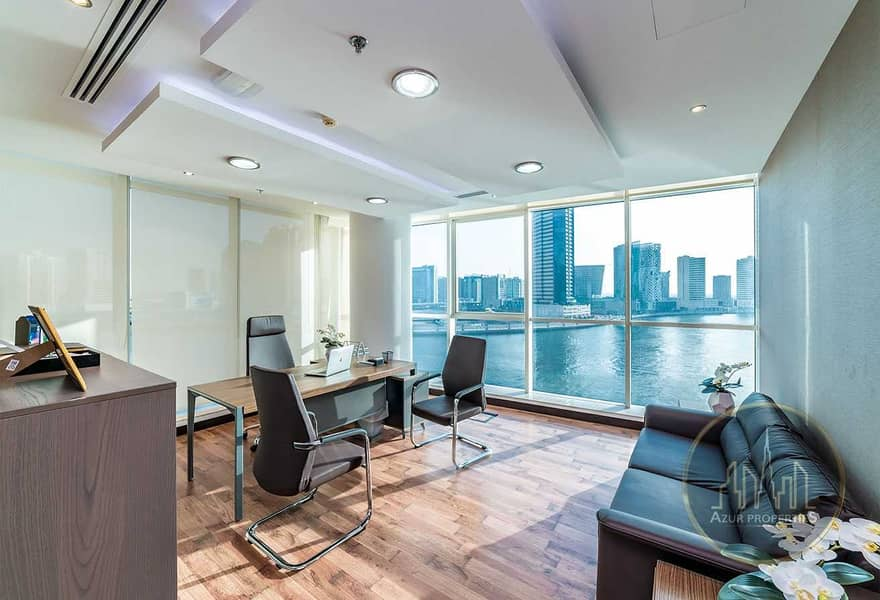 PRICED TO SELL |FITTED OFFICE | DUBAI CANAL VIEW