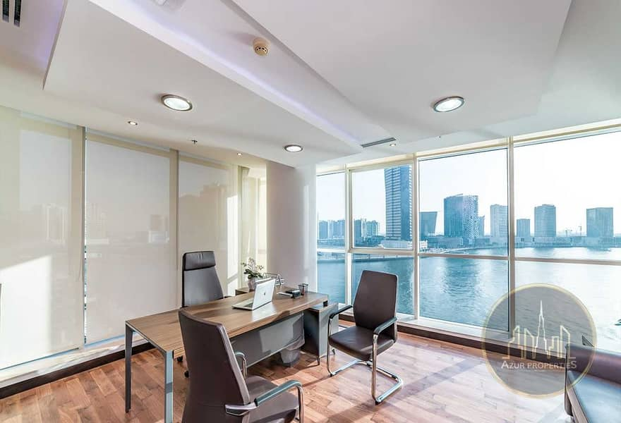 2 PRICED TO SELL |FITTED OFFICE | DUBAI CANAL VIEW