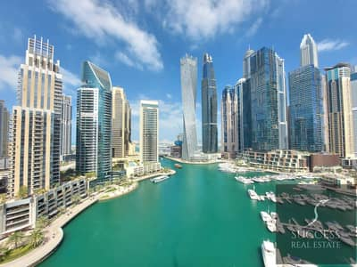 3 Bedroom Flat for Sale in Dubai Marina, Dubai - Splendid 3BR+Maids+Study | Full Marina View | High Floor