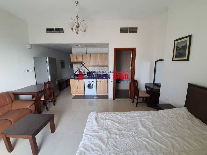 2 BIGGEST SIZE 527 sq ft   GOLF VIEW FURNISHED STUDIO WITH BALCONY