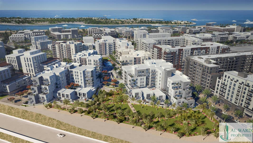 2 Full Sea view   Luxury 3bed unit with Maids rooms   Overlooking  to Community Park too   With Monthly Payment Plan Plan