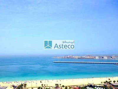 1 Bedroom Apartment for Rent in Jumeirah Beach Residence (JBR), Dubai - 100% Full Sea View | Large 1 Bed | Fully furnished