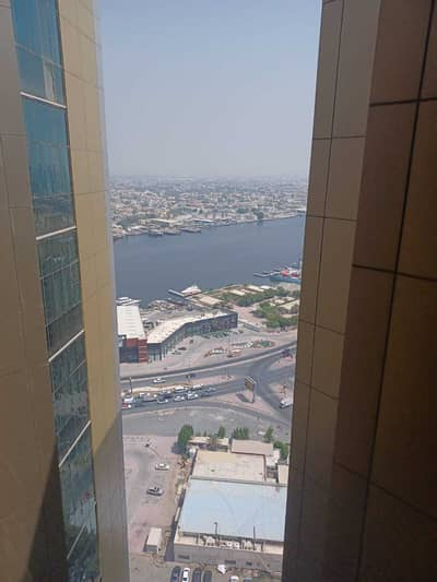 1 Bedroom Apartment for Rent in Ajman Downtown, Ajman - 1 Bedroom Hall with Partial Sea View for Rent in Horizon Tower Ajman