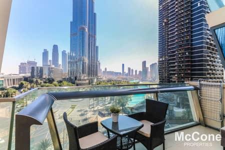 1 Bedroom Apartment for Rent in Downtown Dubai, Dubai - Burj Khalifa/Fountain Views   Spacious   Furnished