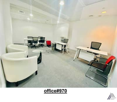 Office for Rent in Bur Dubai, Dubai - Fully Furnished serviced  office with separate Meeting table -Linked with Mall and  Metro