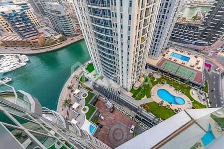 فلیٹ 1 غرفة نوم للبيع في دبي مارينا، دبي - Vacant + Nicely Furnished + Full Marina View
