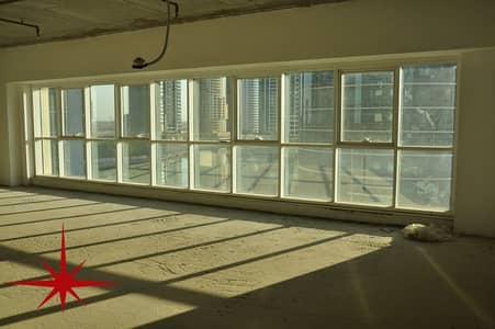 Office for Rent in Jumeirah Lake Towers (JLT), Dubai - Shell and Core Office at Lower Level in JBC 4 with Lake view