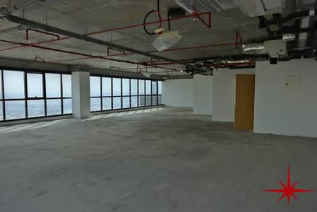 Shell and Core Office on Higher Floor with SZR View