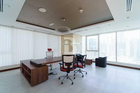 مکتب  للايجار في الخليج التجاري، دبي - Furnished| Churchill Executive | Burj & Canal view