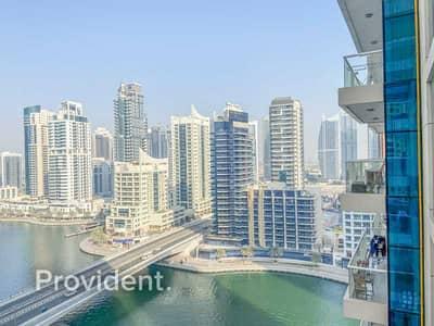 شقة 1 غرفة نوم للايجار في دبي مارينا، دبي - Superb Condition   Great Location   Marina View