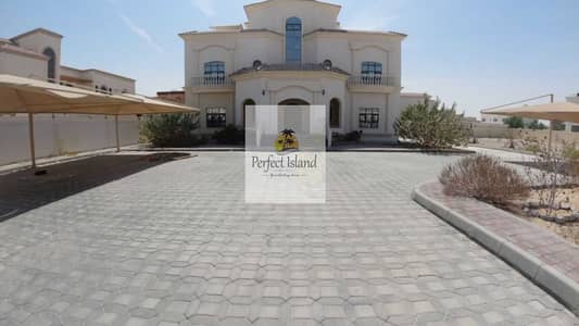 8 Bedroom Villa for Rent in Shakhbout City (Khalifa City B), Abu Dhabi - Stand Alone High Class Quality 8 BR   Extension Service   Driver room   Huge Yard