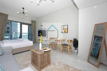 استوديو  للايجار في دبي الجنوب، دبي - Fully Furnished Huge Studio Apt with Balcony for rent @ MAG 5