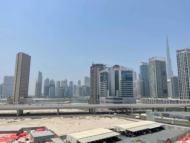 Burj khalifa view |up to 4 chqs |Studio + balcony
