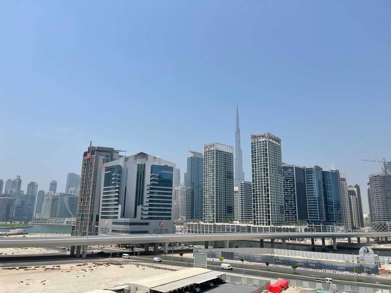 2 Burj khalifa view |up to 4 chqs |Studio + balcony
