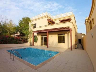 5 Bedroom Villa for Sale in Al Raha Golf Gardens, Abu Dhabi - Splendid 5BR  Pool and Garden  Maids Room  Rented