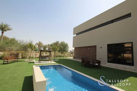 فیلا 5 غرف نوم للبيع في داماك هيلز (أكويا من داماك)، دبي - Huge Plot | Vacant VD1 5 Bed | Private Pool