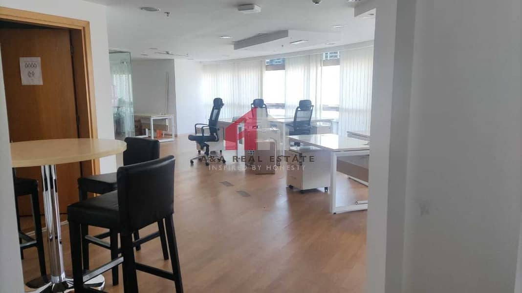 10 Semi furnished with partitioned office for Rent in Fortune Executive Tower