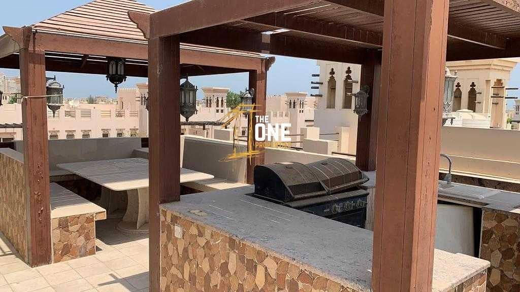 18 Fully Furnished 3 Bedrooms + Maid + Study  Villa  For Rent - AL Hamra Village