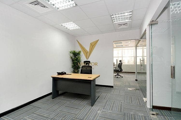 Full Internal Partition Office for Rent in Mazaya Business Avenue