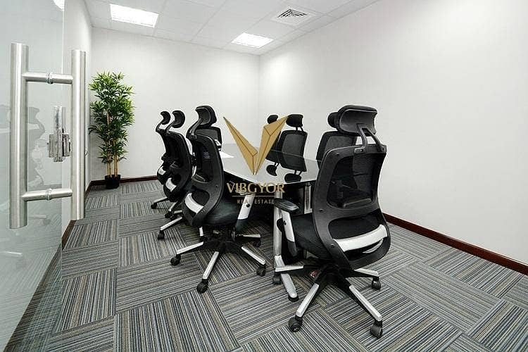 3 Full Internal Partition Office for Rent in Mazaya Business Avenue