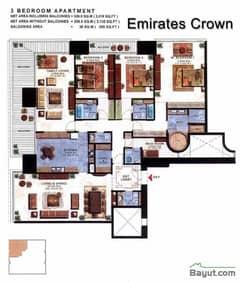Floorplan Three Bedroom Apartment