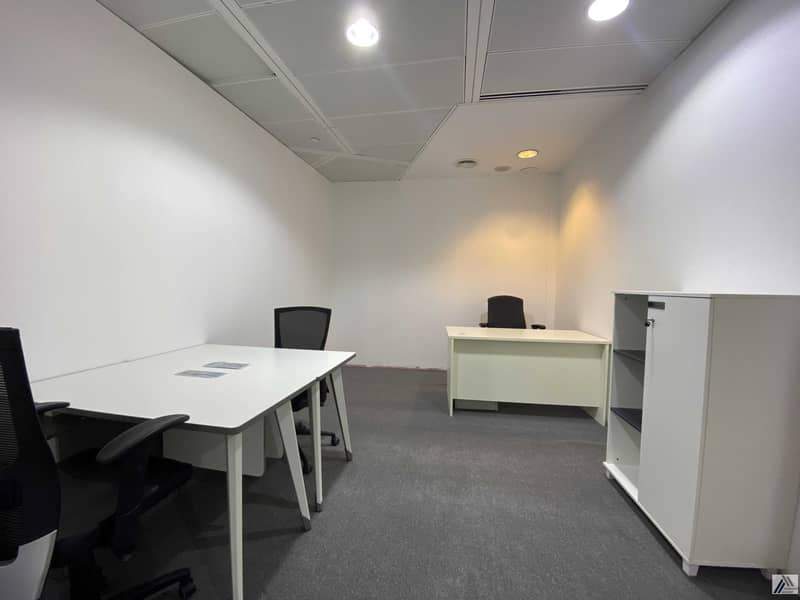 2 Well-Furnished Office   Newly Established Floor   Free Ejari  Linked with Metro and Mall