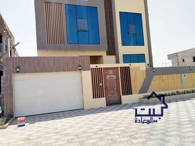 4 Bedroom Villa for Sale in Al Zahya, Ajman - The location of the villa in Ajman, Al Zahia area, 3 floors, various design finishes, on a direct street, with the possibility of easy bank financing