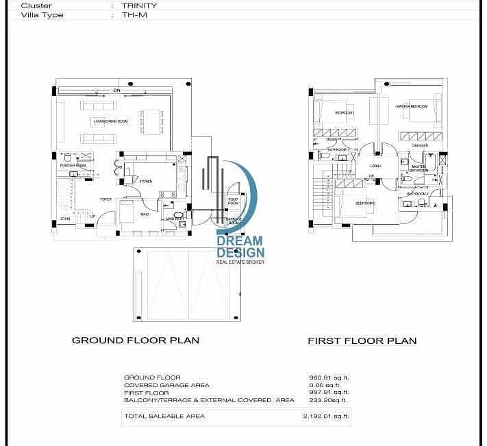 15 THM Townhouse | 3 Bedroom | Maid | Corner Plot | Damac Hills