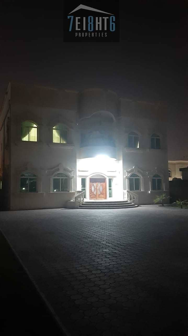 Excellent property: 5 b/r good quality independent villa + maids room  + large landscaped garden for rent in Mizhar 2