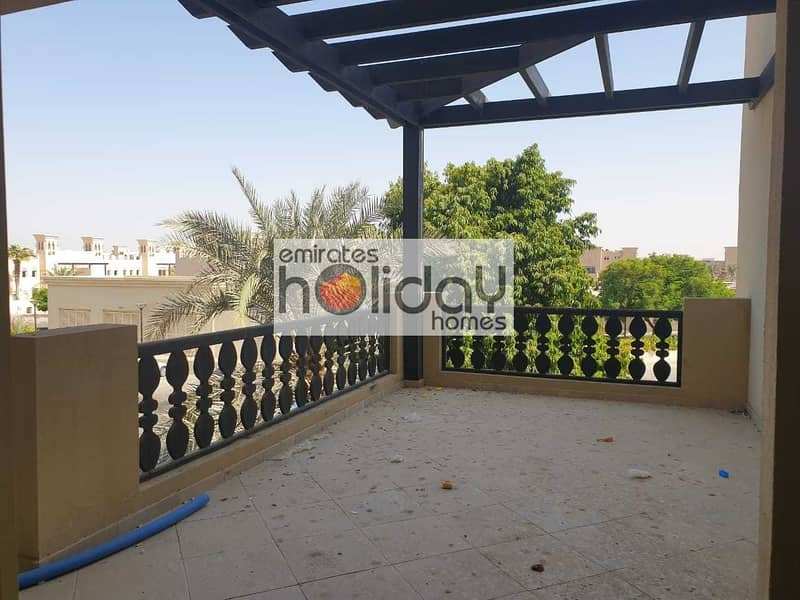 Upcoming Large Balcony Furnished with Lagoon Views