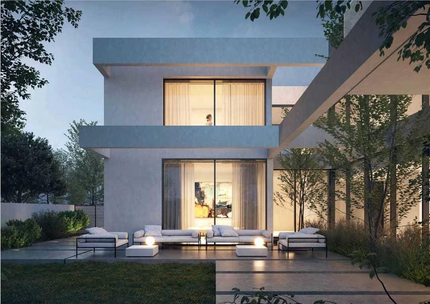 فيلا 5 غرف مستقلة بالشارقة داخل واحة من الاشجار \ حمام سباحة خاص \ غرفة خادمة + غرفة سائق \ فيلا ذكية بنظام التحكم عن بعد \ للفخامة عنوان