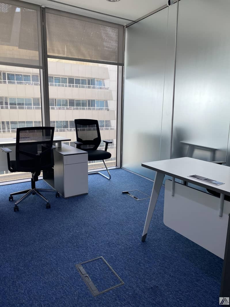 2 Fully Furnished Office-Dewa internet free/ Suitable for 2 Staff / Linked with Metro and mall