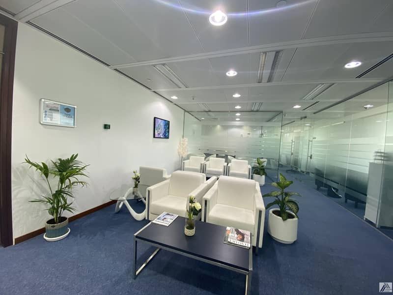 15 Fully Furnished Office-Dewa internet free/ Suitable for 2 Staff / Linked with Metro and mall