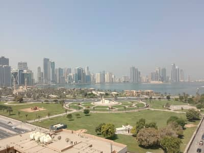 3 Bedroom Flat for Rent in Al Majaz, Sharjah - Amazing view 3 Bedroom Apartment 1 Month  Maid room Balcony just in 44000/-Near City Center Majaz1