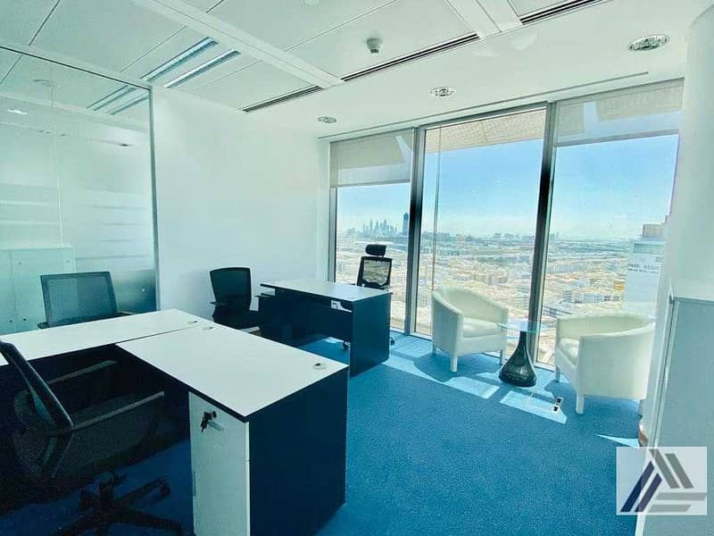 2 Amazing offer| Fully Furnished high view office at affordable price Dewa internet free | Linked with Mall and Metro