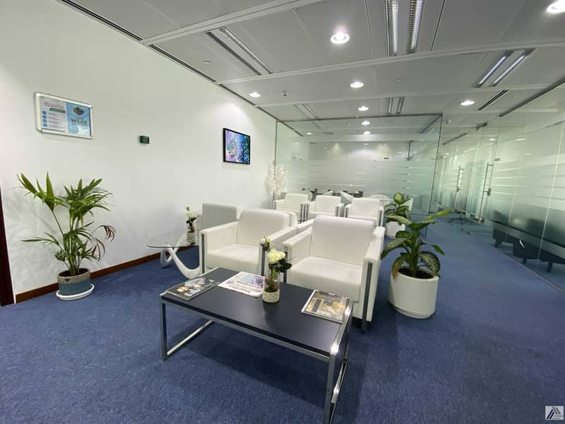 15 Amazing offer| Fully Furnished high view office at affordable price Dewa internet free | Linked with Mall and Metro