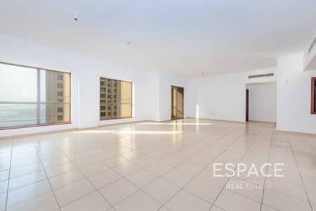 4 Bedroom Flat for Sale in Jumeirah Beach Residence (JBR), Dubai - Ready to Move In | Large 4 Beds | Partial Sea View