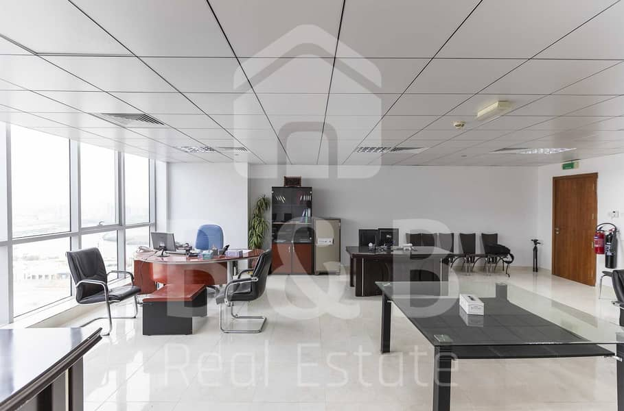 Nicely Furnished Office - Great View - Big Size