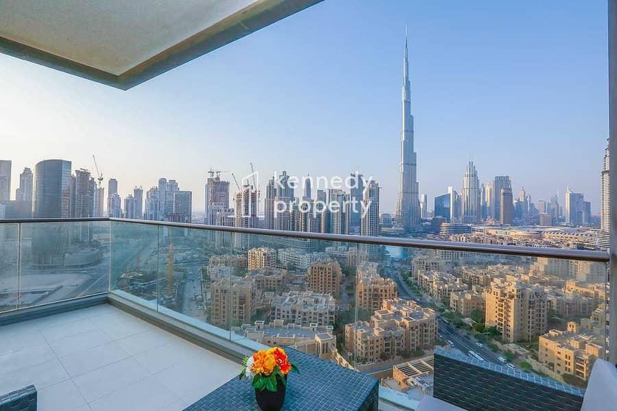 Burj Khalifa View | Well Maintained | Spacious