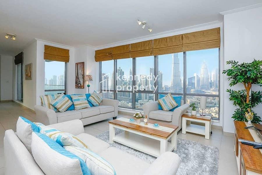 2 Burj Khalifa View | Well Maintained | Spacious