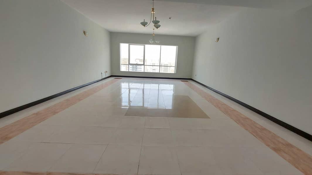 Chiller AC free gym pool! Spacious 4 bhk maids room open view! Buhaira cornchise al majaz 1 area